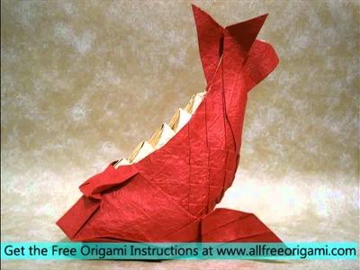 Fold Origami Koi Fish 3d Origami Koi Fish 3d Origami Shark Tooth