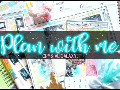 Plan with me in my Erin Condren Life Planner | Crystal Galaxy