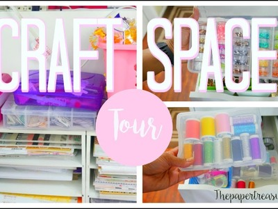 SMALL CRAFTY SPACE TOUR.ORGANIZATION IDEAS FOR YOUR CRAFT STASH