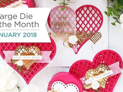 Spellbinders January 2018 Large Die of the Month