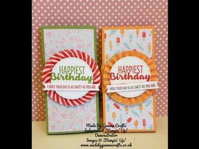Stampin'Up! Poppin' box card wrap
