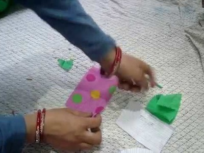 कपड़े से बनाय DIY fabric, cloth Flower for flower pot. DIY Home decoration.best craft recycling idea