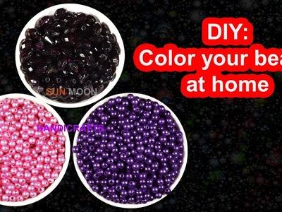 পুতি রঙ করার নিয়ম. DIY : how to color beads at home | Dye your beads | Color your beads at home