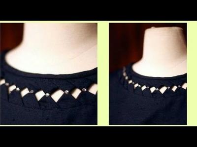 Trendy Kurti.Kurta Neckline Very Simple & Easy To Make