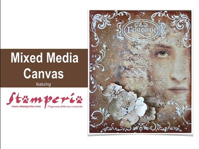 Vintage Mixed Media Canvas with Stamperia