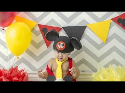 Xander - Mickey Mouse Cake Smash - Treasured Memories Photography
