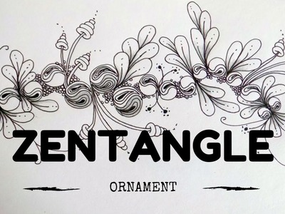 ZENTANGLE PATTERNS FOR BEGINNERS #8 | Ornament