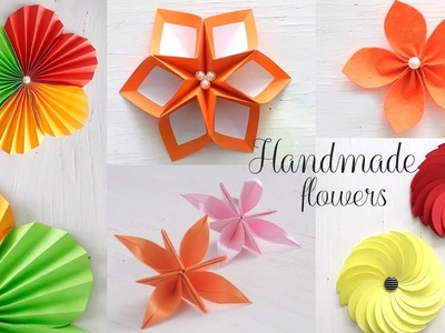5 Easy Paper Flowers   DIY Videos   Paper Folding