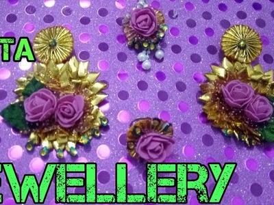 50.gota jewellery making.how to make gota jewellery at home