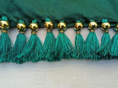 Beads  saree kuchu.saree kuchu tricks & hacks.how to insert beads