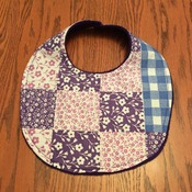 Bib - Baby Girl Bib  - Drool Bib -  Purple, Pink and Blue  - Handmade