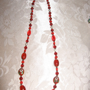 Brand New Bumblebeads  Original and Handmade Red Glass Necklace