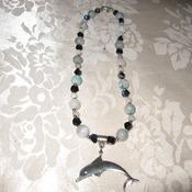 Brand New Bumblebeads Original Handmade Gemstone Dolgthan Pendant Necklace