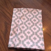 Cloth Dinner Napkins - Pink and Gray Print - Eco Friendly - Handmade