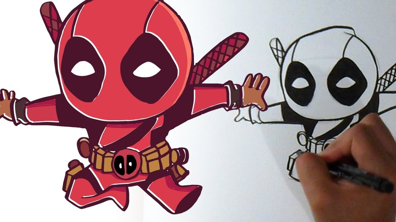Dibujos De Deadpool: Cómo Dibujar A Deadpool X Kawaii