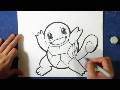 Cómo dibujar a Squirtle - Pokémon | How to draw  Squirtle