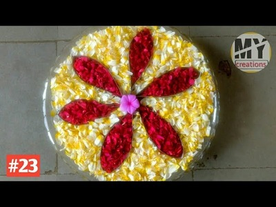 Creative and Easy to Make Floating Flowers Decoration for Glass Bowl #23 | My Creations