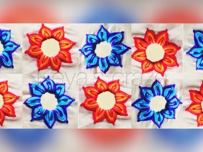 Creative Shesha hand embroidery for dupatta | Mirror work for dupatta | Keya's craze | 2018