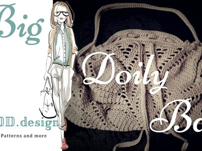 Crochet a Big Doily Bag Part 1 ENGLISH Step by step tutorial