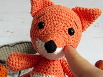 Crochet fox, handmade stuffed toy, Cozy House Shop