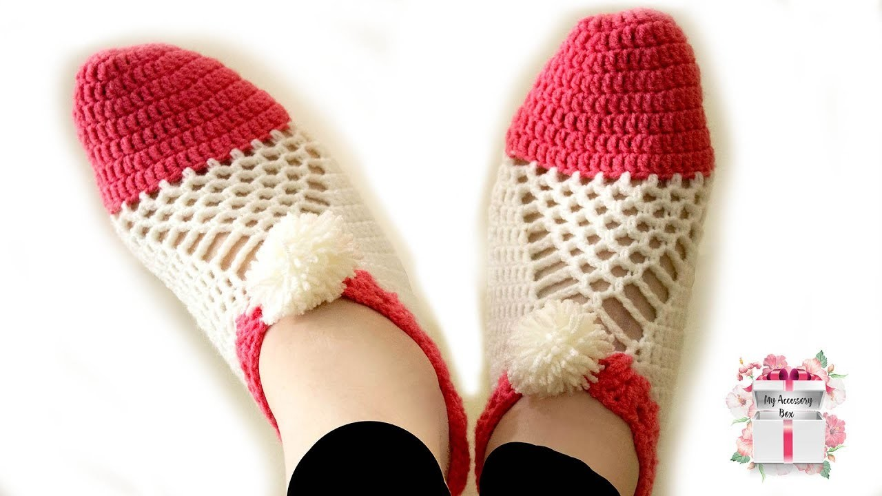 Crochet gift ideas | Easy to make cluster crochet slippers