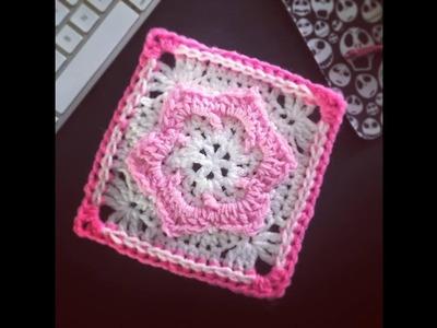 Crochet Jazzy Flower Square