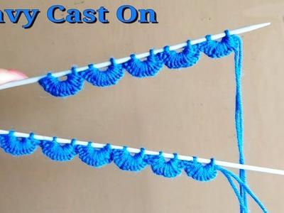 Crochet & Knitting Beautiful Wavy Cast on Technique