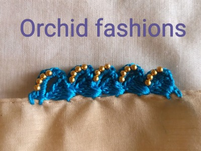 Crochet New slant design in crochet khuchu for sarees (kannada version) - 29