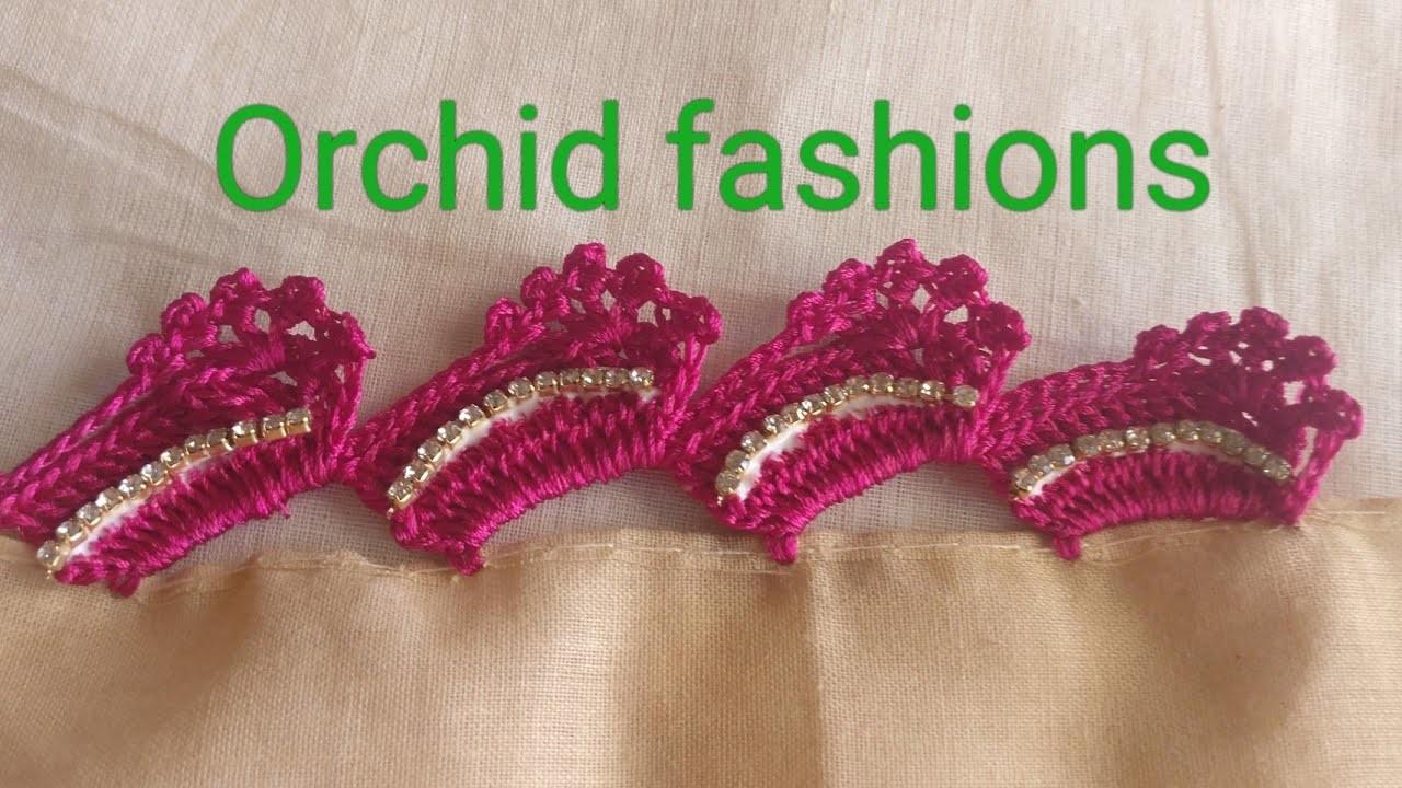 Crochet new slant design with flower (kannada version) - 30