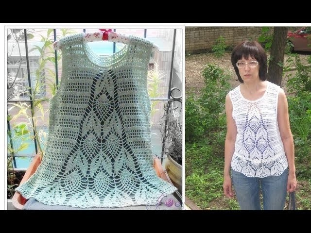 Crochet summer top tunics free pattern