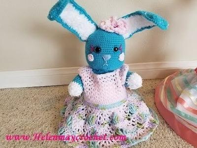 Crochet Viz A Vi Cluster Lace Baby Dress DIY Video Tutorial