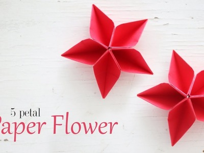 DIY 5 Petal Paper Flowers