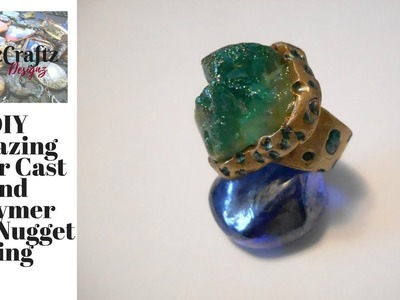 DIY Amazing Clear Cast and Polymer Clay Nugget Ring