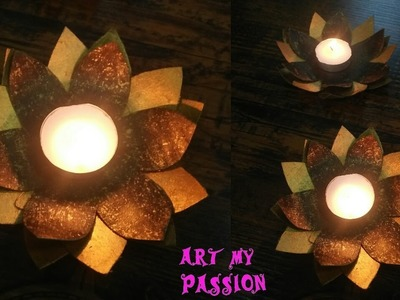 DIY Candle Holder | How To make Candle Holder out of cardboard | Art My Passion