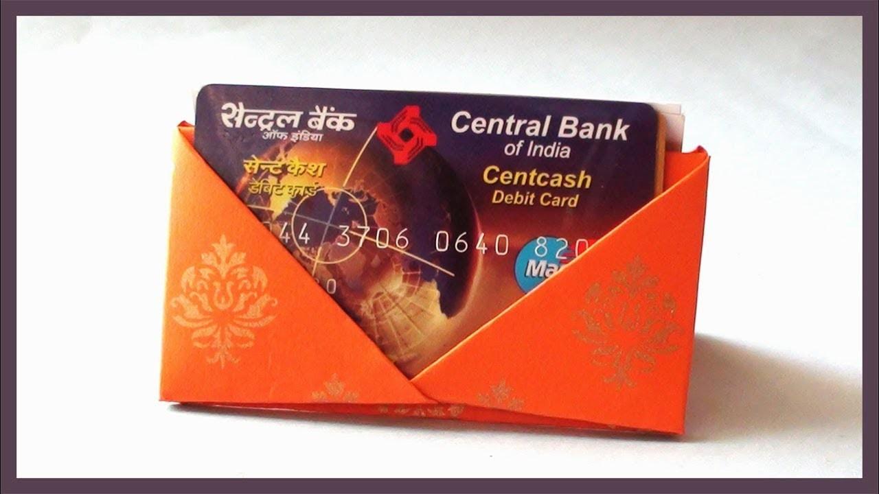 DIY Card Holder Origami for Debit Credit or Business Cards