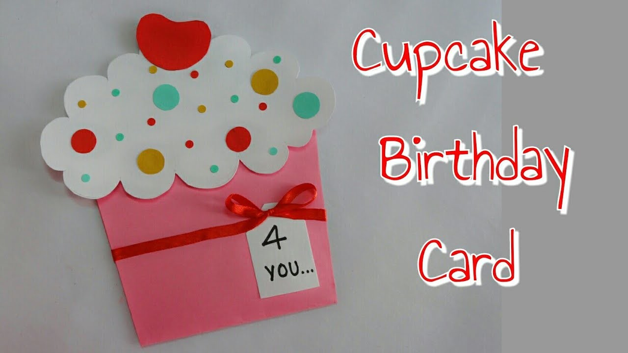 DIY Cupcake Card Birthday For KidsSimple And Easy Making Kids