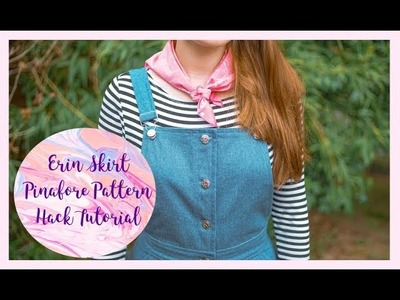 DIY Denim Pinafore: Erin Skirt Pattern Hack Tutorial