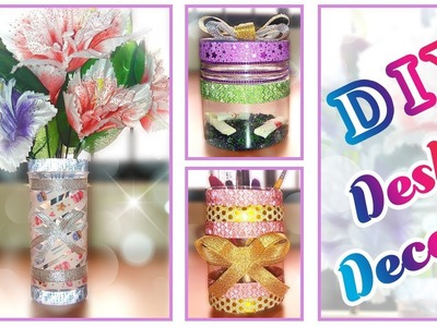 DIY Desk Decor using Pet Jars, Washi Tapes and Glitter Tapes | FriDIY Episode 01