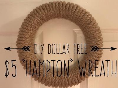 DIY Dollar Tree Hampton Wreath