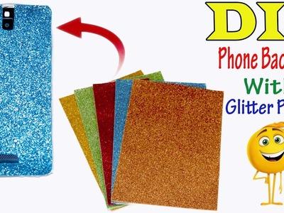 DIY Glitter Clear Cell Case || Mobile Backpart || Nusrat DIY Crafts