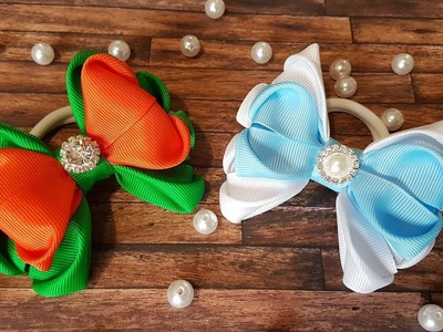 DIY.Grosgrain Ribbon Hair Bow.Tutorial.Kanzashi.Masna za djevojcice