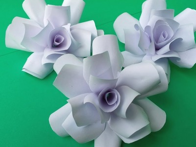 DIY: How to Make Beautiful White Paper Rose!!! Easy Tutorial For Bigginers!!!