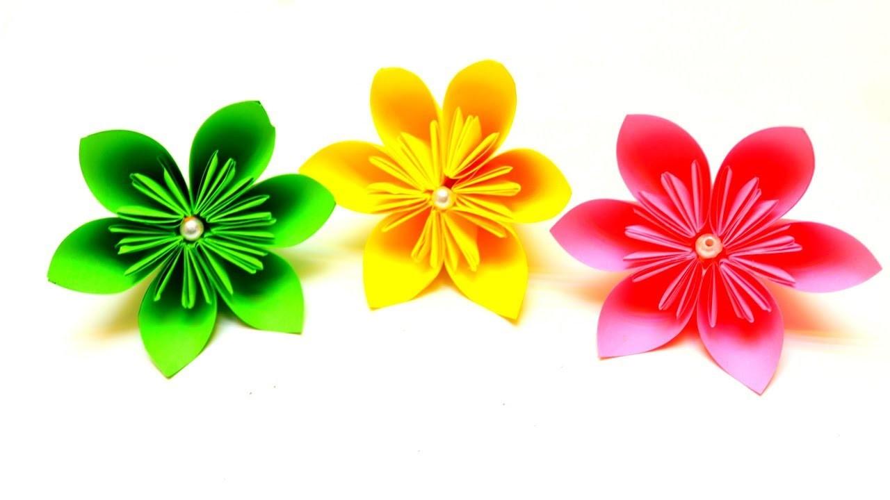 Diy How To Make Kusudama Paper Flower Easy Origami Kusudama Flower