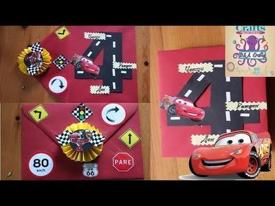 DIY: How to make Lightning McQueen envelope TUTORIAL