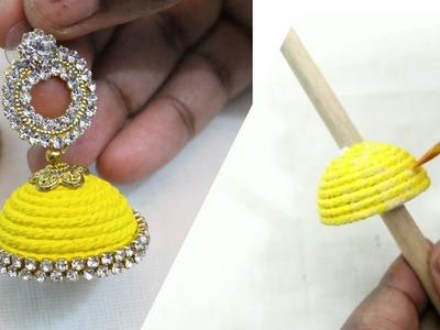 DIY | Painted thread Jhumka