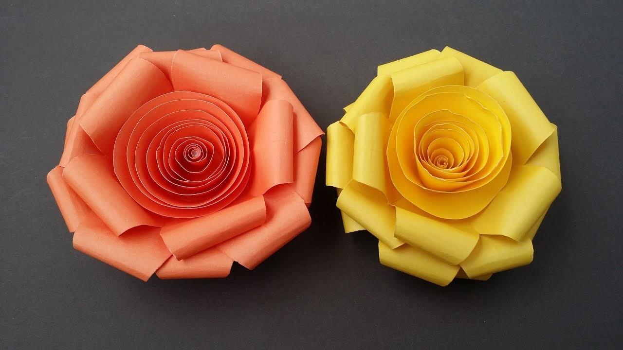 DIY: Paper Rose!!! How to Make Easy Paper  Rose!!!