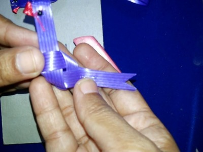 Diy parrot with fish tape in telugu. chiluka allatam