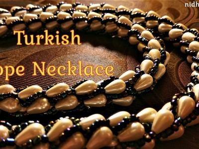 DIY Turkish Spiral Beaded Rope Necklace | How to