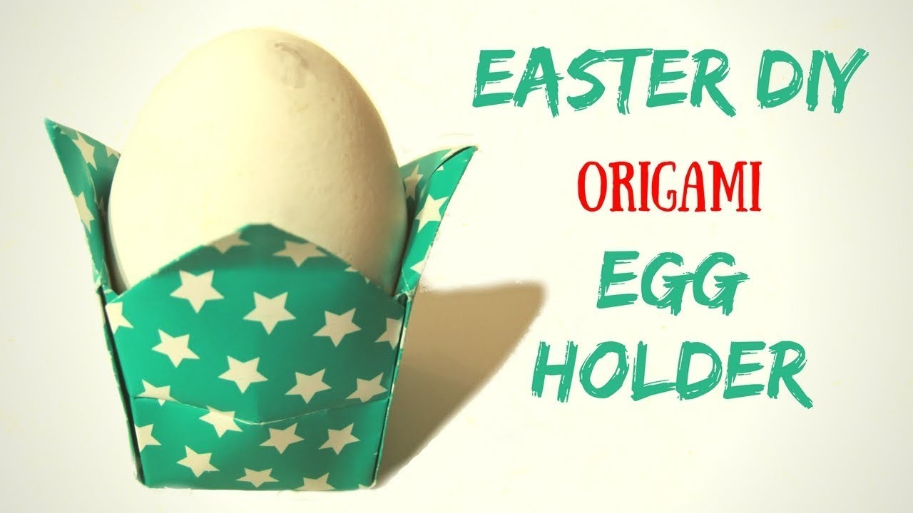 easter diy origami egg cup holder hand made