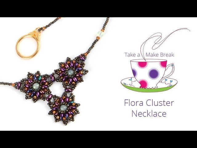 Flora Cluster Necklace | Take a Make Break with Beads Direct